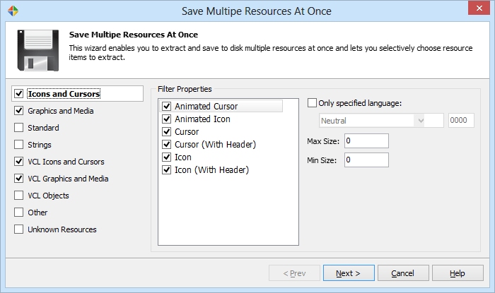 Multiple Save Option to save multiple resources at once